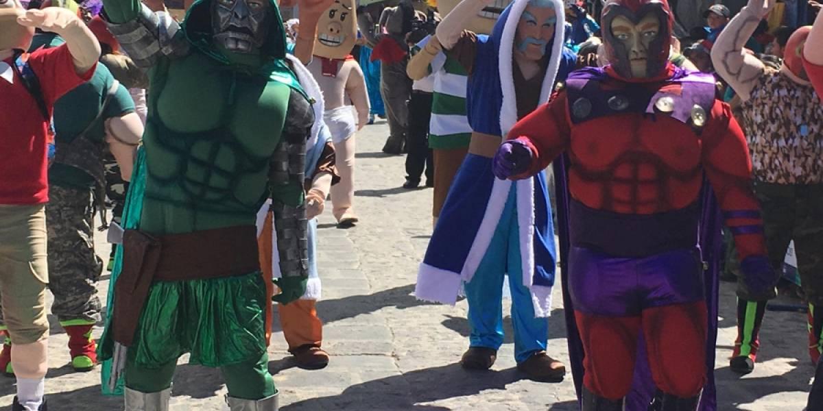 EN IMÁGENES. Personajes, música y tradición en el 37 Baile de disfraces de Sumpango