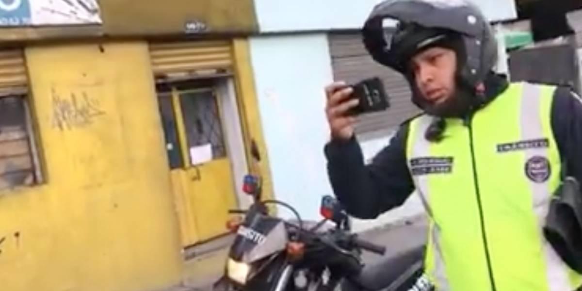 Director de la AMT repudió lo sucedido con el agente de tránsito involucrado en video