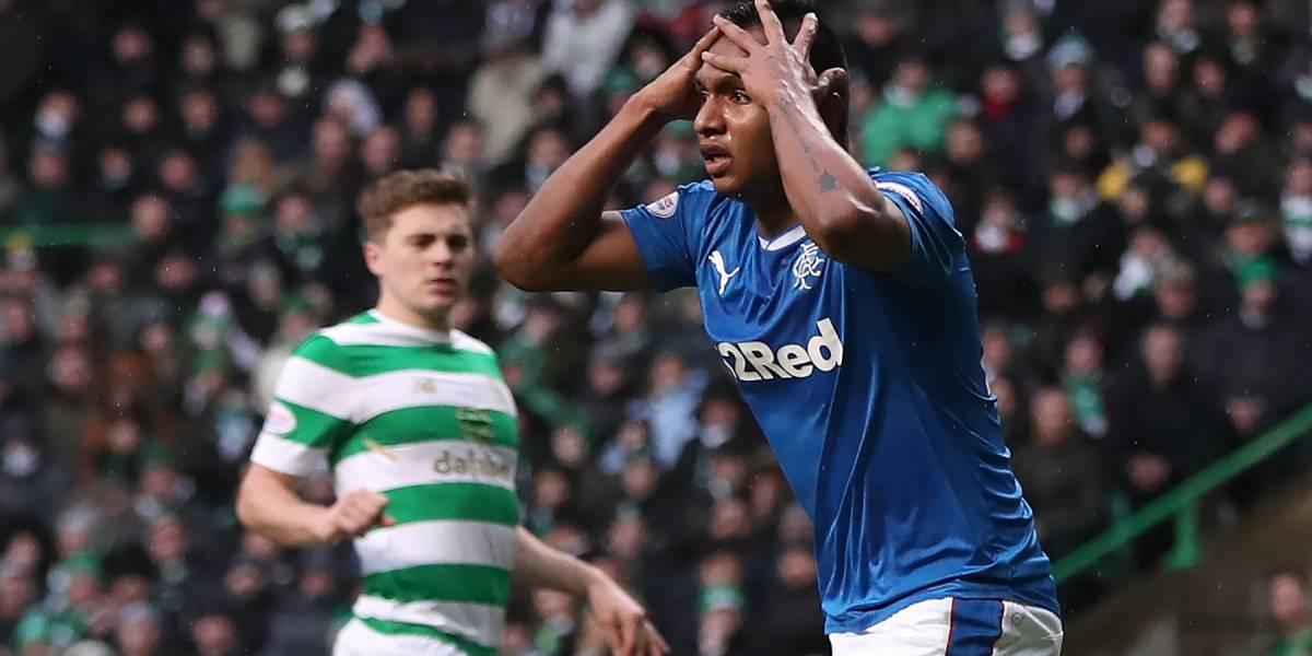Alfredo Morelos y el Rangers empataron en el 'Old Firm' contra Celtic