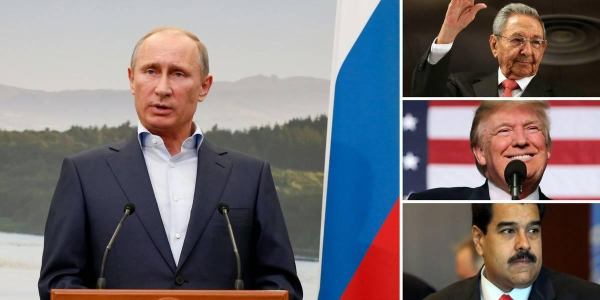 Putin envía mensajes de Año Nuevo a Trump, Maduro y a Raúl Castro