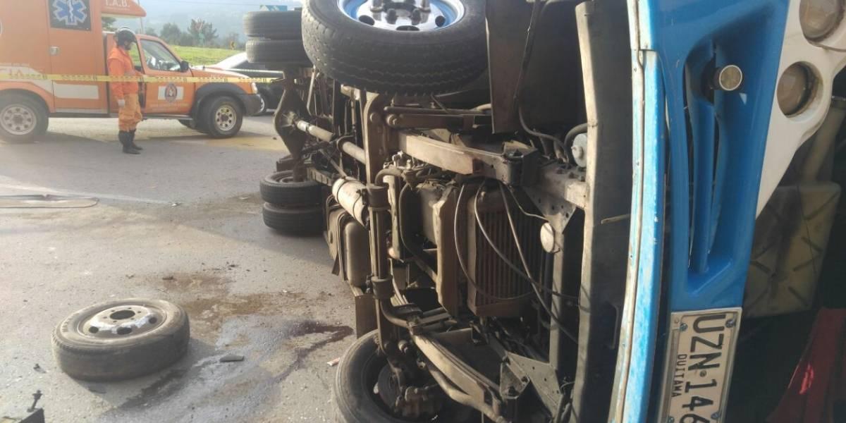 Exceso de velocidad causó un muerto y 10 heridos en la vía Duitama - Tunja