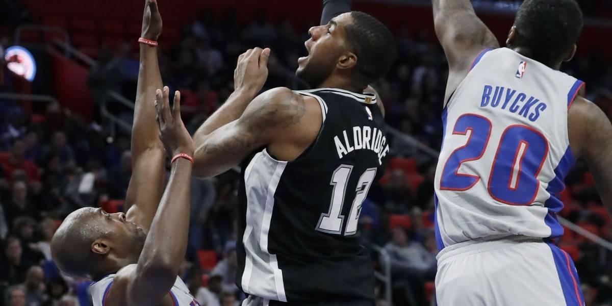 Pistons vencen a los Spurs