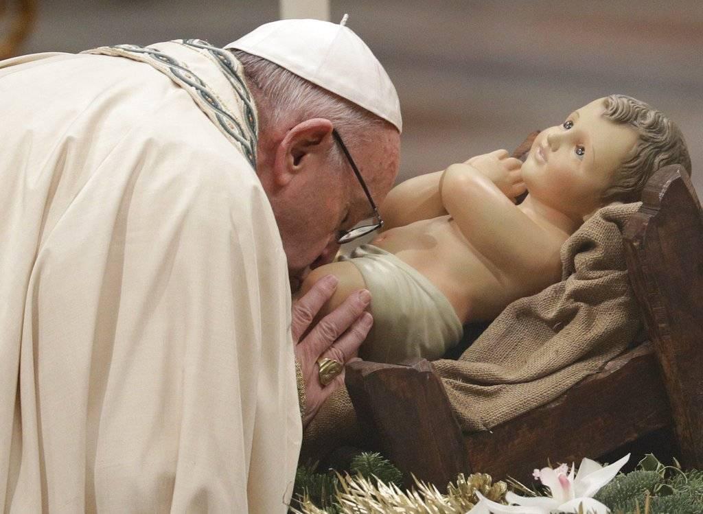 El Papa Francisco agradeció al Niño Jesús por un año más desde el Vaticano Foto: AP