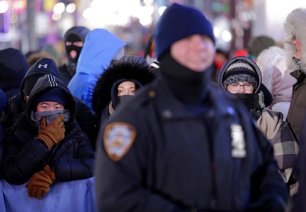 Nueva York espera el Año Nuevo bajo un fuerte operativo de segurdidad Foto: AP