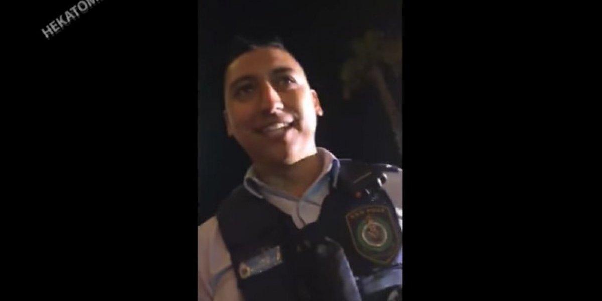 """""""Y qué andan weando por acá"""": chilenos armaron fiesta en playa australiana y cuando policía los desalojó se llevaron la sorpresa de sus vidas"""