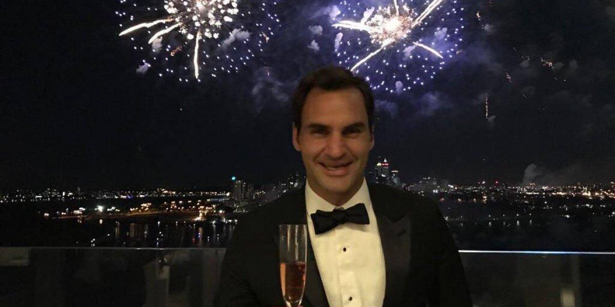 Así recibió el año nuevo Roger Federer