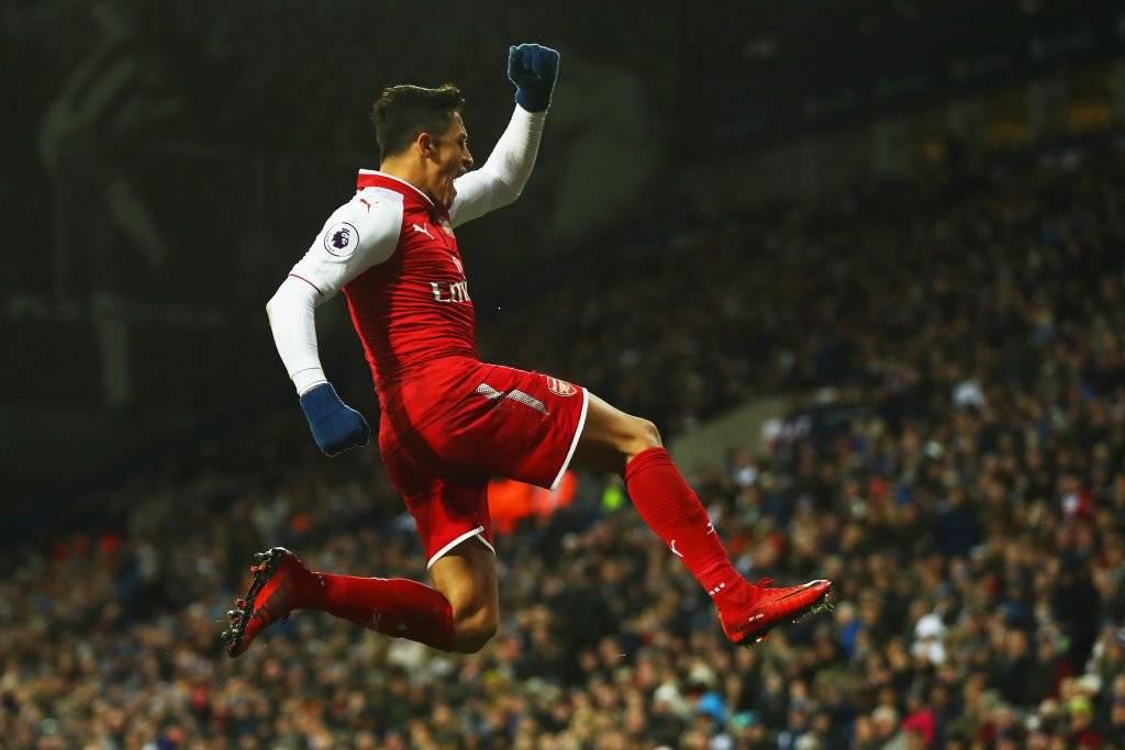 El festejo de Alexis Sánchez duró poco y nada / imagen: Getty Images