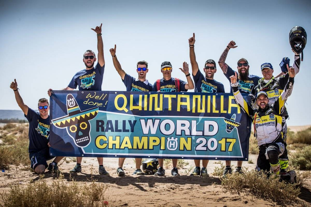 Quintanilla llega al Dakar como campeón del mundo / imagen: Prensa Pablo Quintanilla