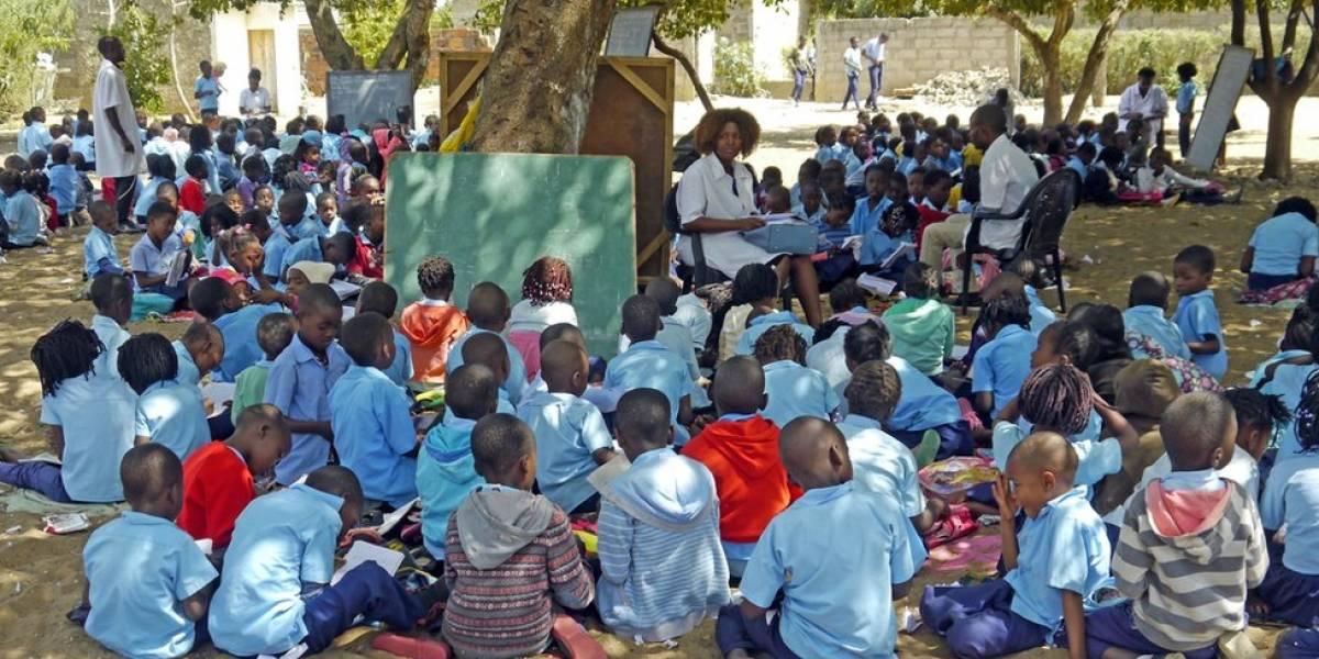 """""""Eu estudo na Mangueira 6"""" - as árvores que são salas de aula para mais de 400 mil crianças em Moçambique"""