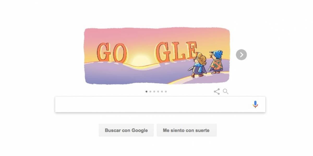 Con este doodle Google recibió al 2018