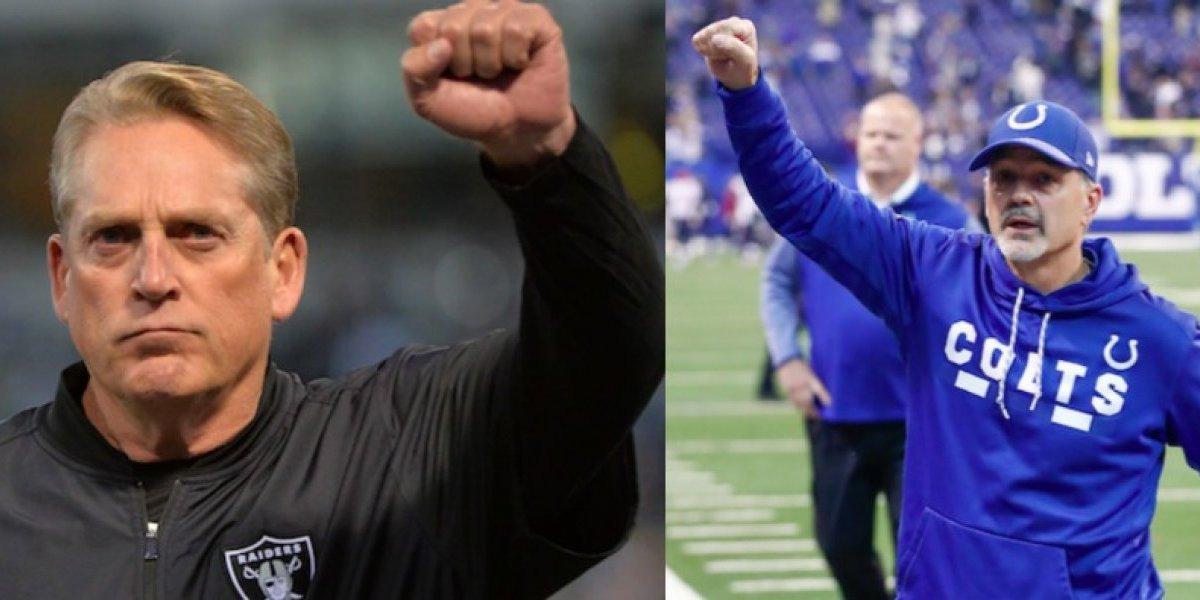 Raiders y Colts despiden a sus entrenadores
