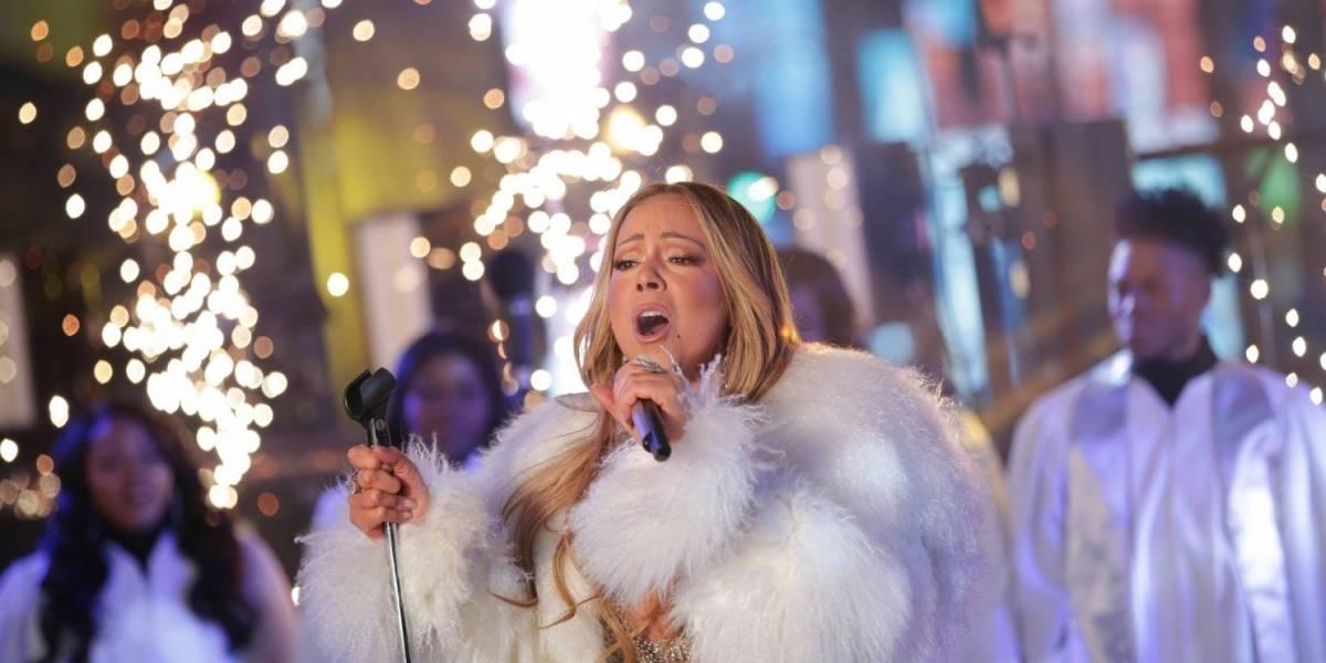 Mariah Carey se presenta con éxito en festejo de Año Nuevo en Nueva York