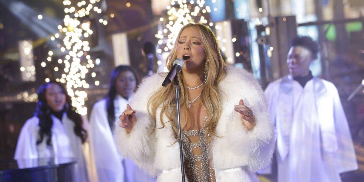 Mariah Carey asombró en el show de Año Nuevo en Times Square