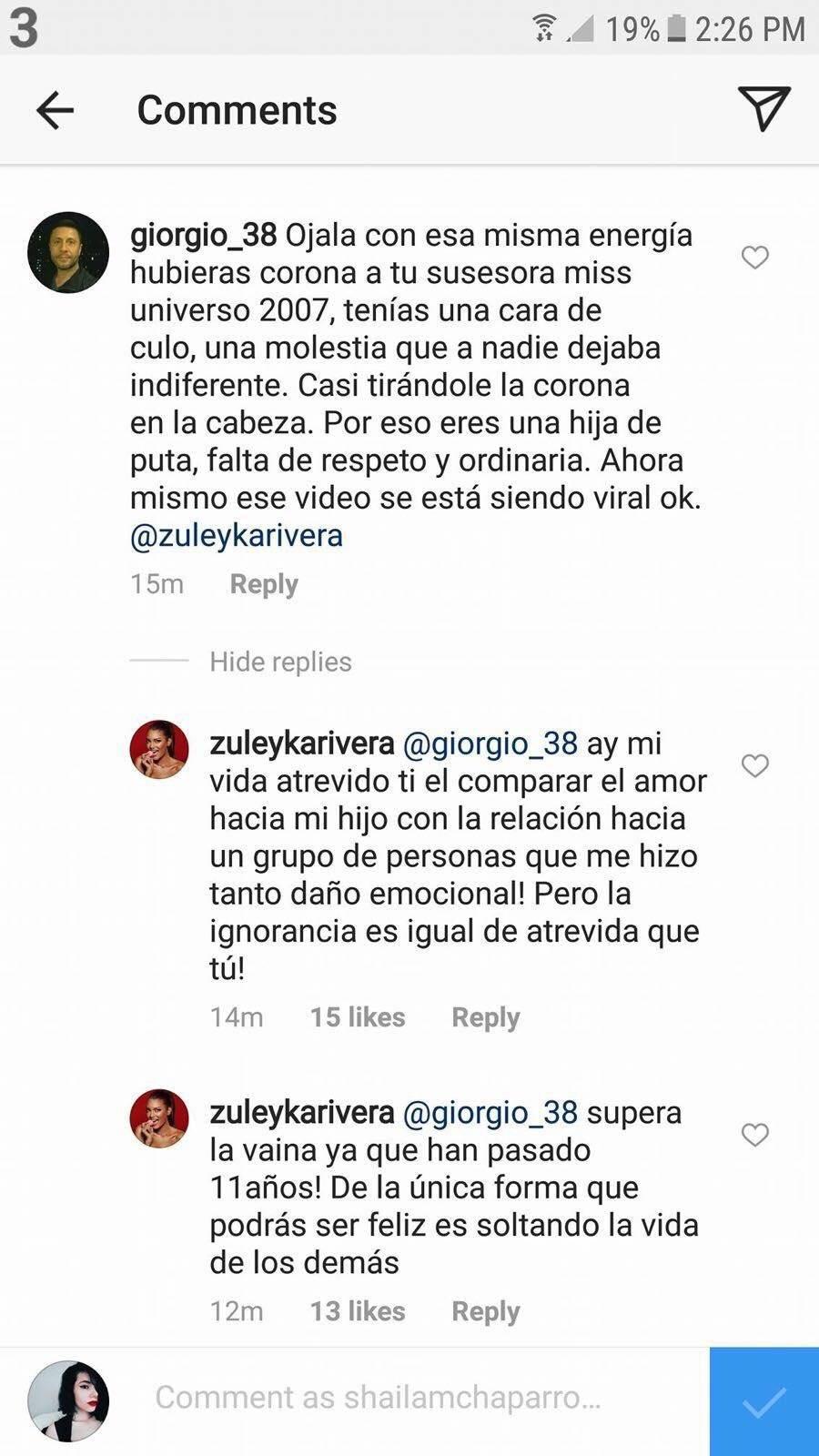 """Zuleyka arremete contra """"cibernauta impropio"""""""