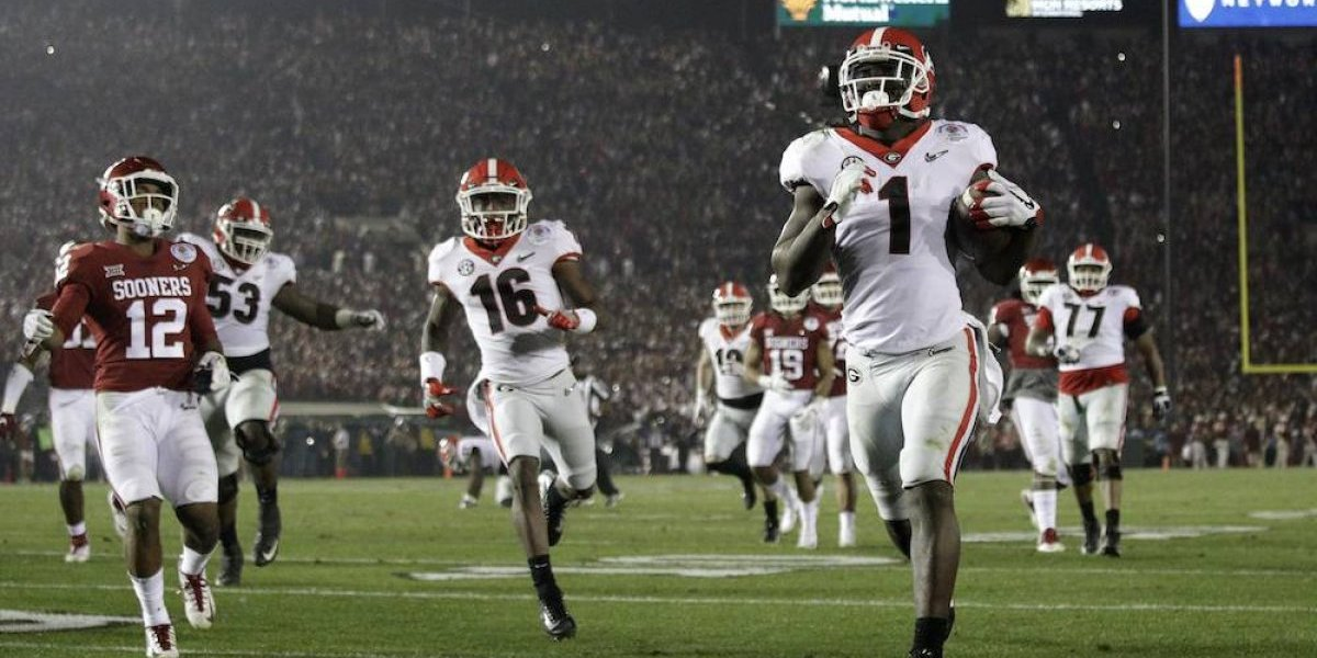 Georgia supera a Oklahoma en el Rose Bowl