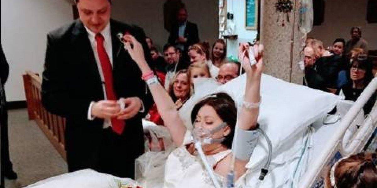 Joven enferma de cáncer se casa horas antes de fallecer