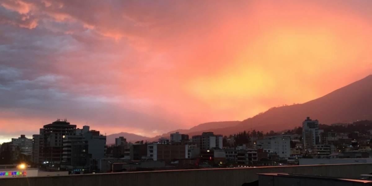 ¿Por qué el cielo de Quito tenía una tonalidad rojiza?