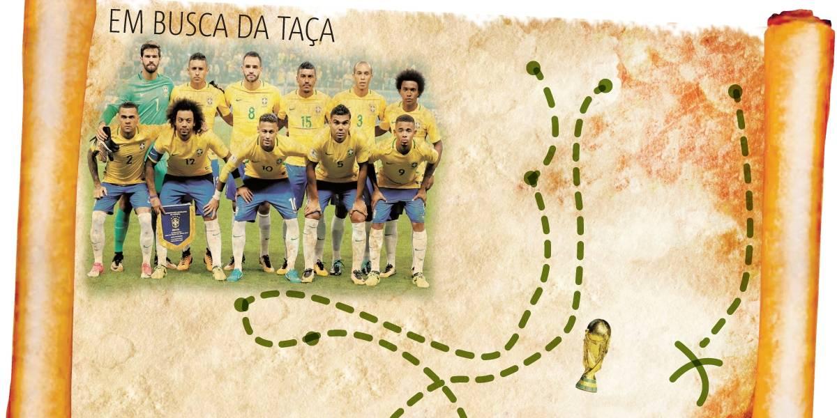 A rota do Brasil em 2018 rumo à Copa do Mundo