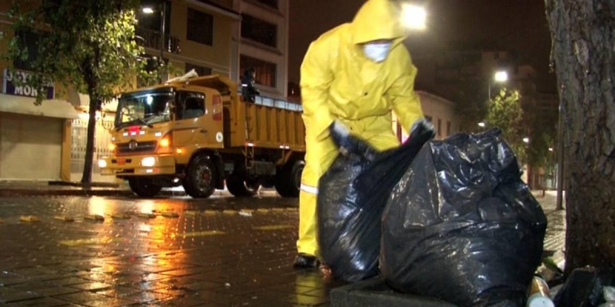 Más de 9.000 toneladas de basura recogidas en cinco días Quito