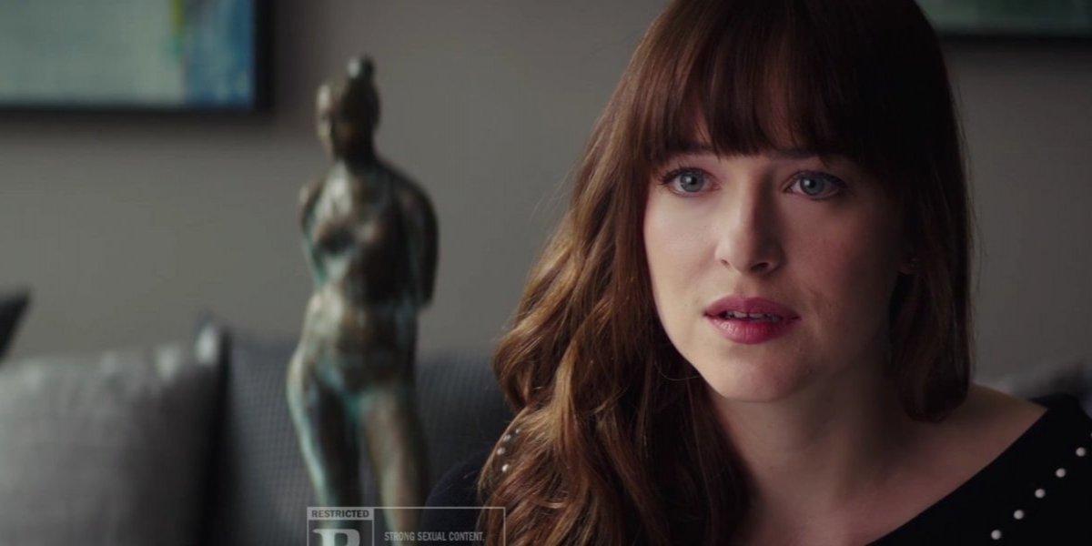 Anastasia descobre que está grávida em trailer de 'Cinquenta Tons de Liberdade'