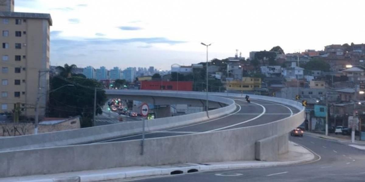 Novo viaduto do M'Boi Mirim já está aberto para o tráfego de veículos