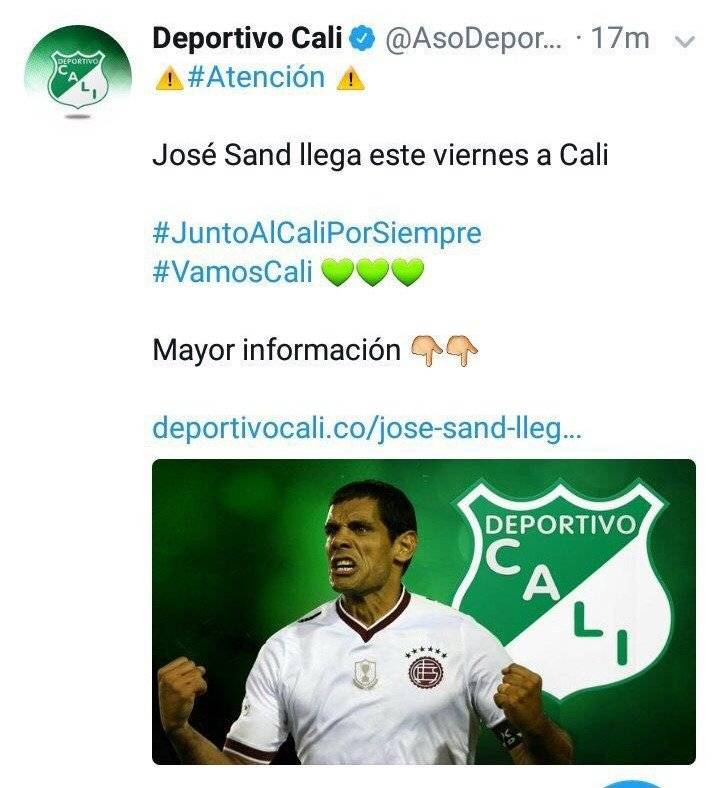 José Sand al Cali