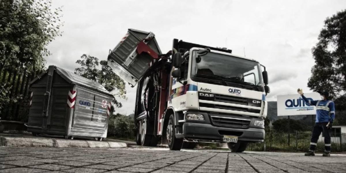65 vehículos adicionales para recoger basura en Quito