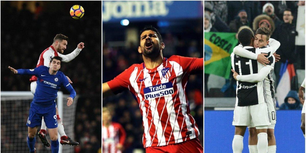Fútbol por el mundo: Juventus, Chelsea y Atlético pisaron fuerte