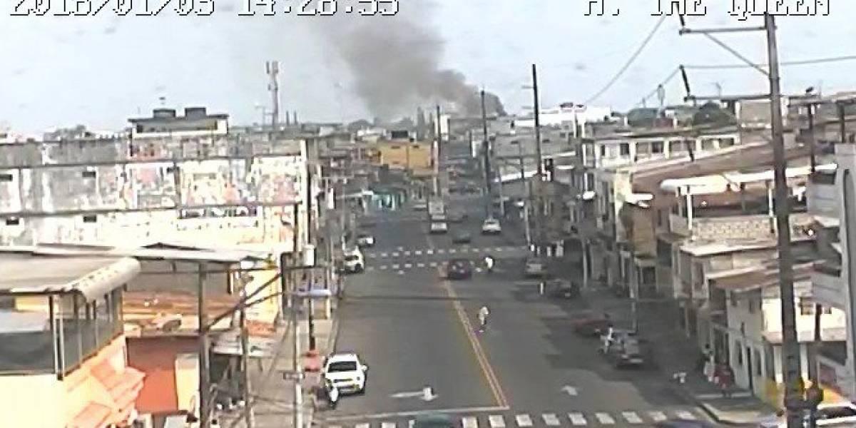 Se registró incendio en un gimnasio de Guayaquil