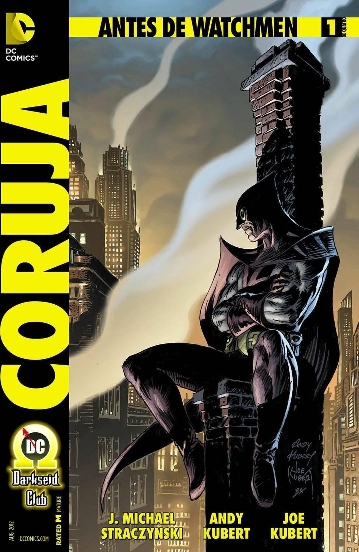 """Heroico, mas sem coragem intrínseca. Cientista. Comum. Falível. Assim é descrito o Segundo Coruja nos esboços de """"Watchmen"""". Fortemente apoiado em tecnologias, ele é inspirado no Batman e no Besouro Verde. / Reprodução"""