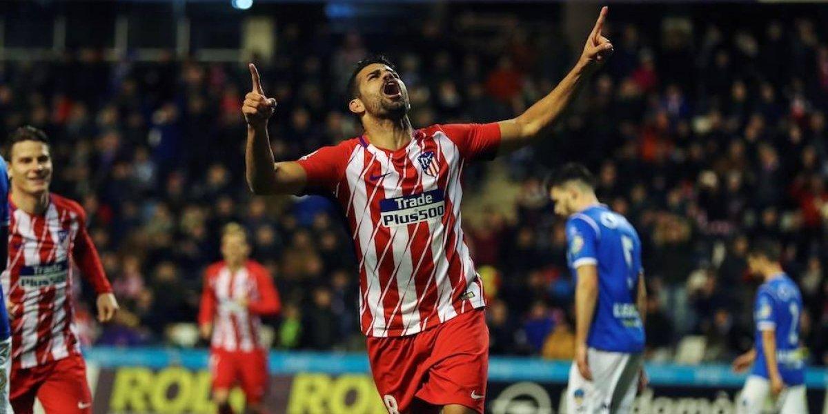 Diego Costa anota en su regreso con el Atlético de Madrid
