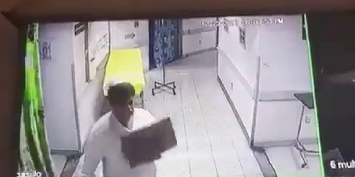 Surgen más detalles sobre caso de enfermera del Hospital Roosevelt que fue captada robando