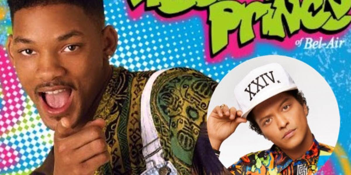 """Bruno Mars estrena nuevo video al más puro estilo del """"Príncipe del Rap"""""""