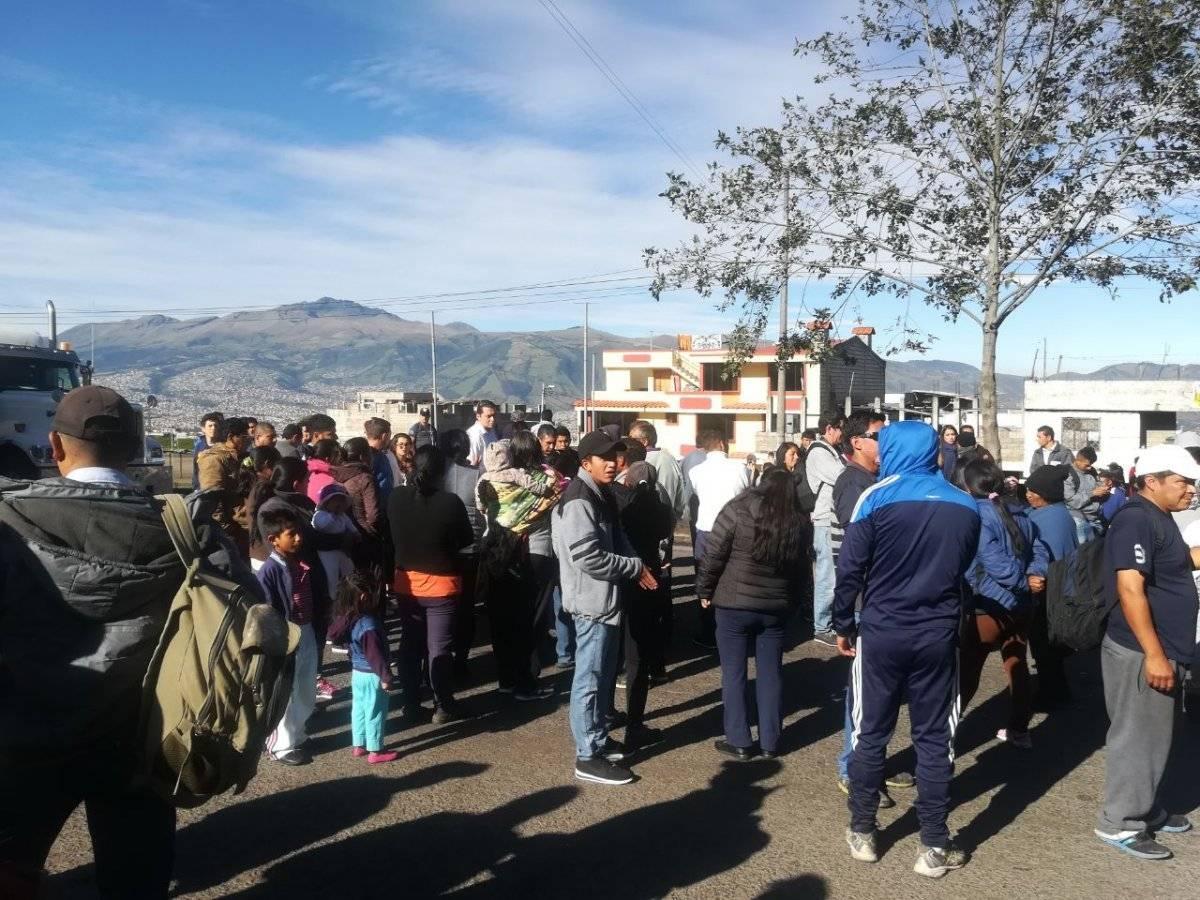 Cortesía Manifestantes cierran la Av. Simón Bolívar