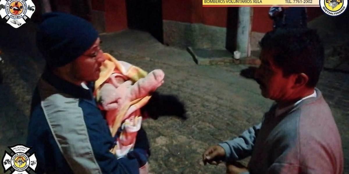 Una bebé estuvo a punto de morir congelada al ser abandonada en una calle de Xela