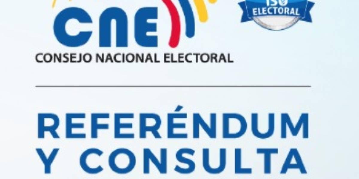 CNE quiere que organizaciones internacionales observen Consulta Popular