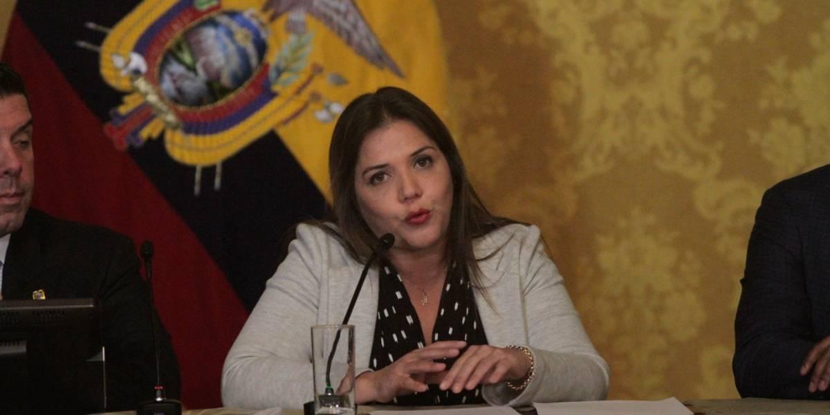 María Alejandra Vicuña dijo que se honra con la confianza de Lenín Moreno