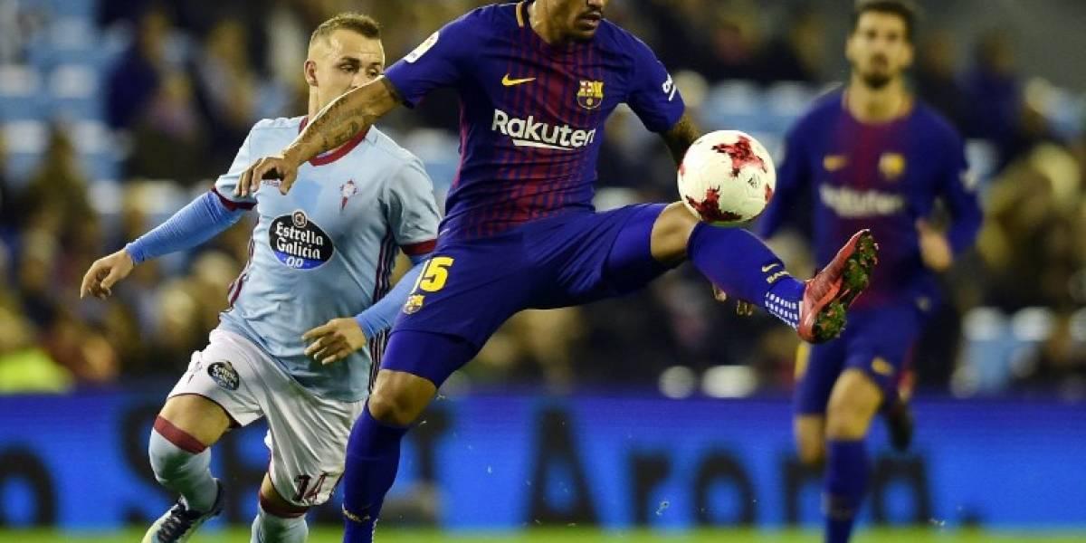 El Celta salva un empate en la ida contra el Barça