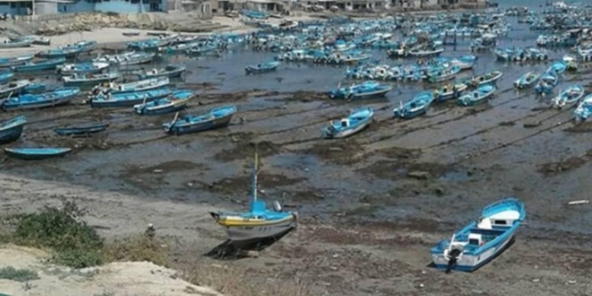 El mar se retiró por aguaje en Santa Elena