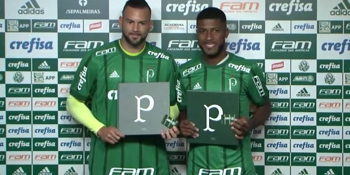 Weverton e Emerson Santos são apresentados e acirram briga na defesa do Palmeiras