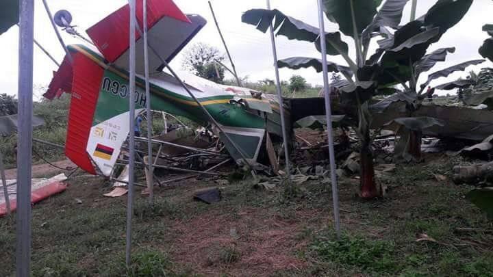 Cortesía Accidente de avioneta