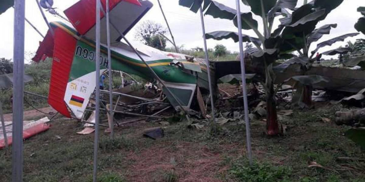 Muere el piloto de avioneta que cayó en zona de provincia costera de Ecuador