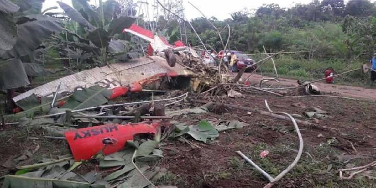 Se registra accidente aéreo en Quinindé