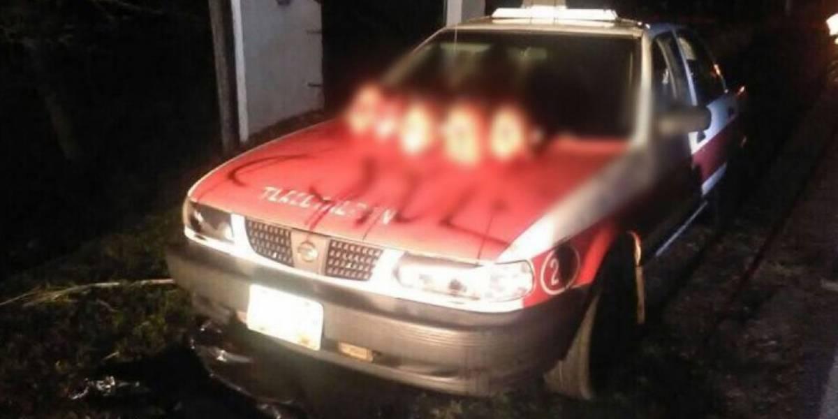 Cinco cabezas sobre un taxi causan pánico en Veracruz-México