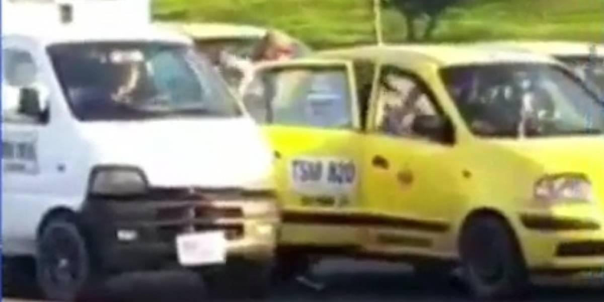 La nueva modalidad para robar a taxistas y pasajeros en 15 segundos, en Bogotá