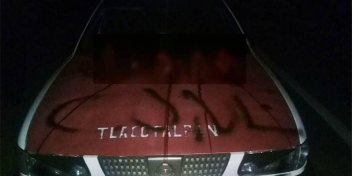 Hallan 5 cabezas sobre taxi de Tlacotalpan