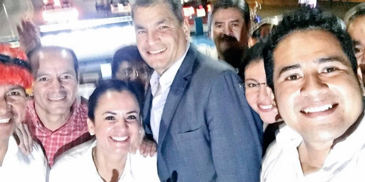Rafael Correa dirige en persona campaña por el No en la Consulta Popular