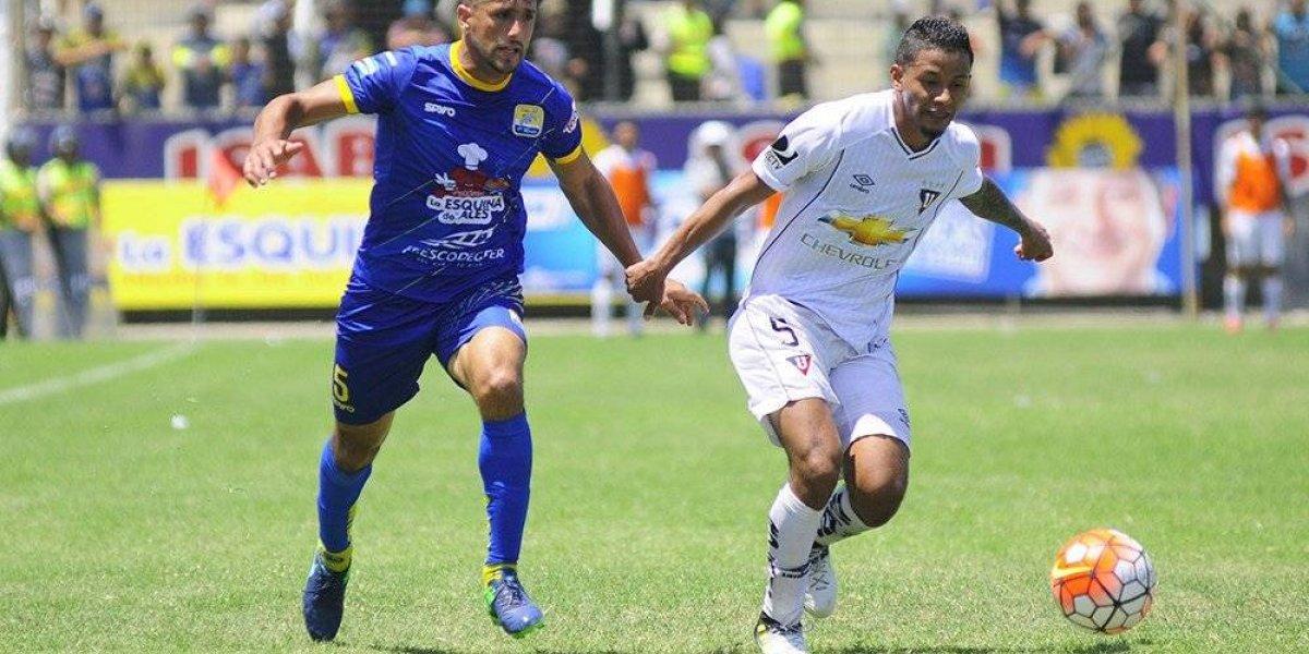Jefferson Intriago, lesionado en la primera práctica de Liga de Quito