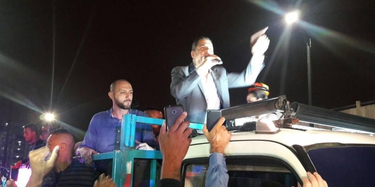 Rafael Correa llegó a Guayaquil