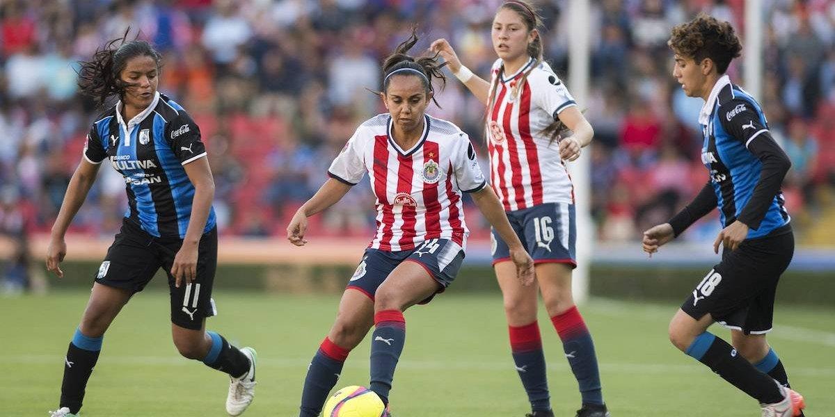 Chivas inicia defensa de título femenil con empate ante Querétaro